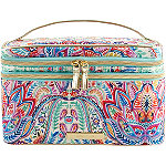 Tartan + Twine Paisley & Lace Double Zip Train Case
