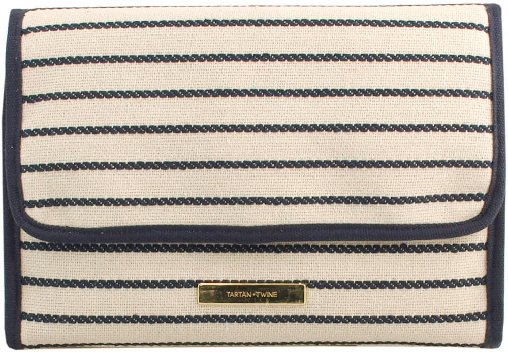 Navy Stripe Hanging Organizer by Tartan + Twine