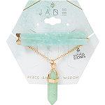 Riviera Semi Precious Jade Acrylic Bobby Pins & Pendant Necklace 2 Pc