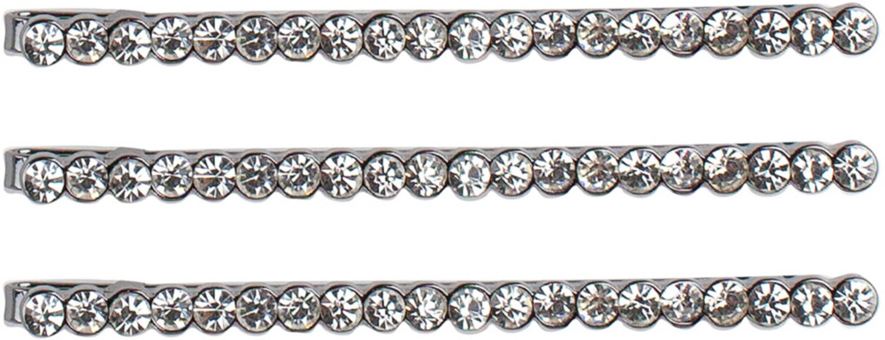 Kitsch Official 3pc Rhinestone Bobby Pins