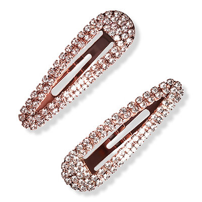 Rhinestone Snap Clips 2 Pc