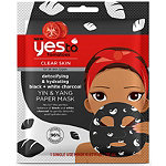 Yes to Tomatoes Yin & Yang Detoxifying & Hydrating Black & White Charcoal Paper Mask