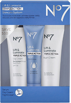 eb4a823c5d1 No7 Travel Size Lift & Luminate Triple Action Anti-Aging Skincare ...