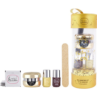 Online Only Gold Ornament Gel Manicure Gift Set