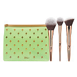 IT Brushes For ULTA Your Desert Island Must-Haves 3-Piece Complexion Brush Set + Makeup Bag