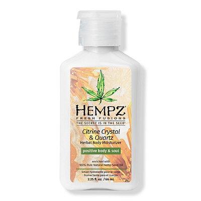 Travel Size Citrine Crystal & Quartz Herbal Body Moisturizer