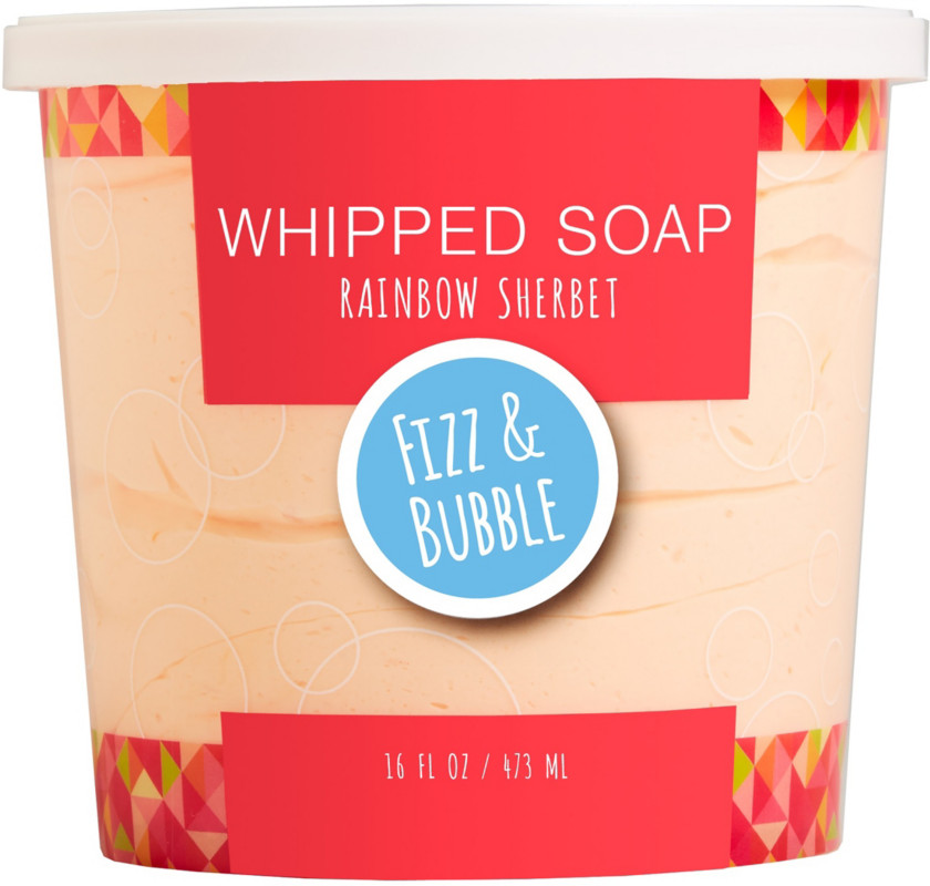 Rainbow Sherbet Whipped Soap by Fizz & Bubble