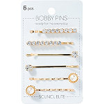 Scünci Mixed Glam Bobby Pins 6 Pieces