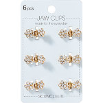 Scünci Mini Crystal Jaw Clip Set 6 Pieces
