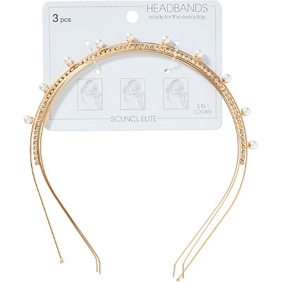 Pearl And Crystal Headband Set