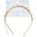 Scünci Pearl And Crystal Headband Set