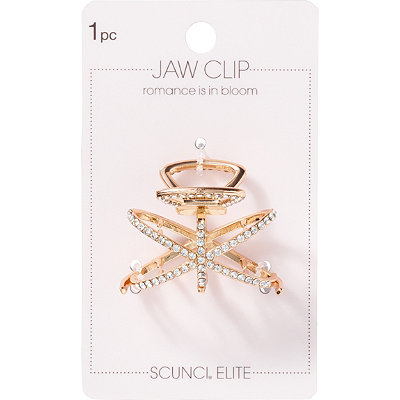 Crystal Ring Jaw Clip