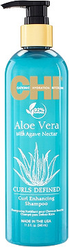 The Aloe Vera with Agave nectar Curl Enhancing Shampoo travel product recommended by Jessica McCafferty on Pretty Progressive.