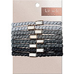 Kitsch Perfect Ponytail in Black/Grey 8 Pc