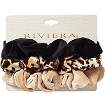 Riviera Faux Velvet Scrunchies 3 Pc