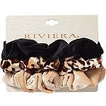 Riviera Faux Velvet Scrunchies