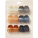 Riviera Assorted Color Claw Clips 12 Pc