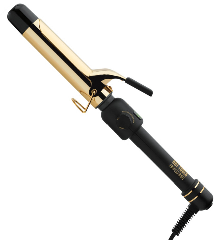Professional 24 K Gold Digital Spring 1 1/4'' Curling Iron by Hot Tools
