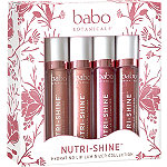 Babo Botanicals Nutri-Shine Hydrating Luminizer Vegan Lip Gloss 4 Pc Set