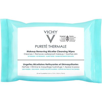 Online Only Pureté Thermale Makeup Remover, Micellar Water Cleansing Wipes