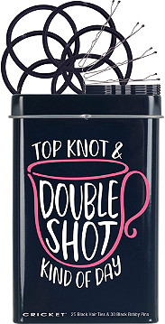 Image result for Top Knot Double Shot Hair Tin