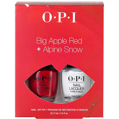 Big Apple Red & Alpine Snow Nail Art Duo