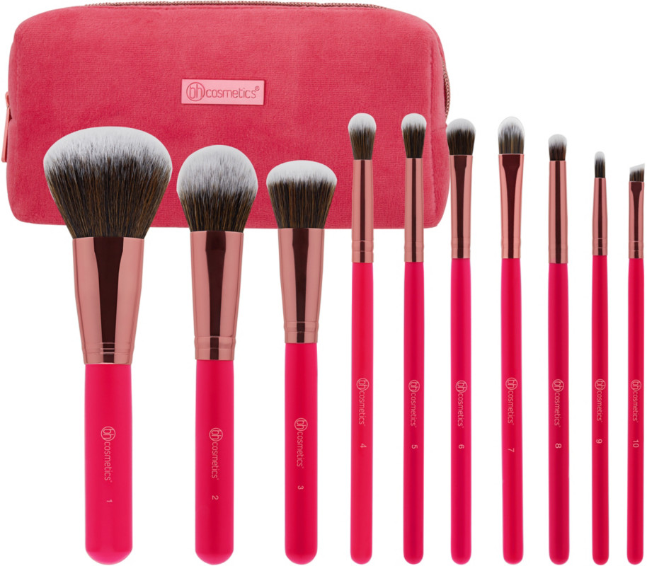 Bombshell Beauty 10 Pc Brush Set by Bh Cosmetics