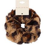 Riviera Faux Fur Leopard Scrunchie