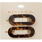 Riviera Oval Acrylic Tortoise Barrettes
