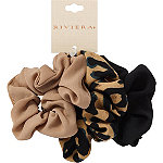 Riviera Leopard Crepe Scrunchies