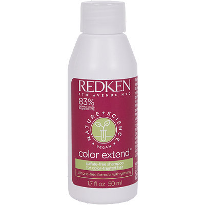 Online Only Travel Size Nature + Science Color Extend Suflate Free Shampoo For Color Treated Hair