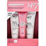 No7 Travel Size Restore & Renew Face & Neck Multi Action Skincare System