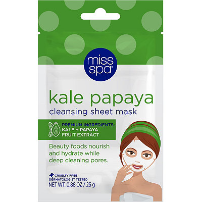 Kale Papaya Cleansing Facial Sheet Mask