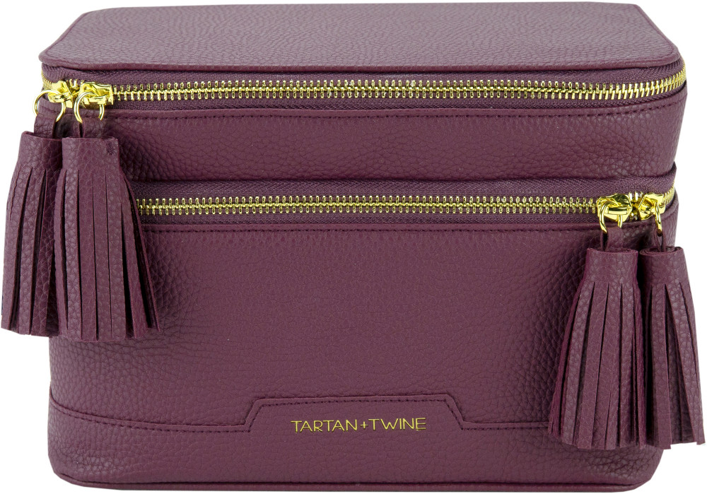 Double Zip Cosmetic Box by Tartan + Twine