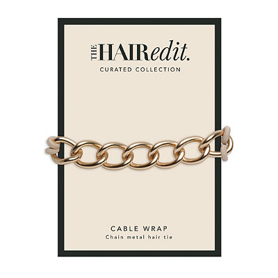 Soft Gold Cable Wrap Hair Tie