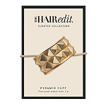 The Hair Edit Soft Gold Pyramid Cuff