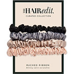 The Hair Edit Ruched Satin Scrunchies