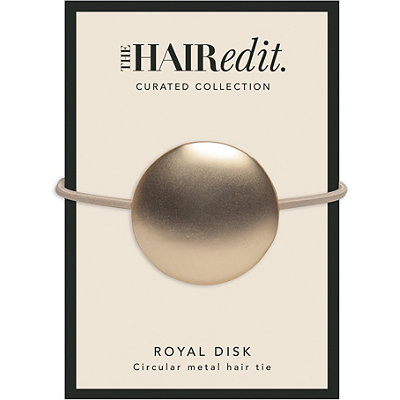 Soft Gold Royal Disk Hair Tie
