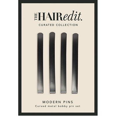 Gunmetal Modern Hair Pins