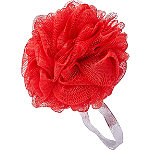 Sweet & Shimmer Red Shower Pouf