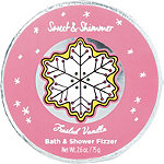 Sweet & Shimmer Frosted Vanilla Bath Fizzer Disk