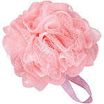 Sweet & Shimmer Pink Shower Pouf