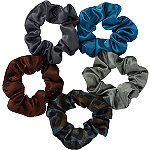 Scünci Green Satin Pony Tail Scrunchies