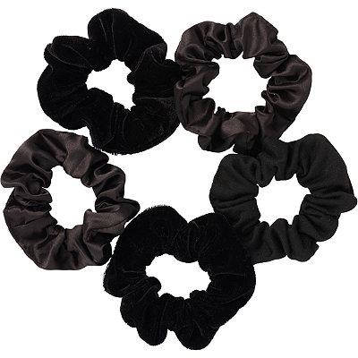 Black Satin Pony Tail Scrunchies