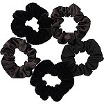 Scünci Black Satin Pony Tail Scrunchies