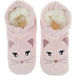 Capelli New York Chenille Cat Pull-On Slipper Socks