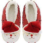 Capelli New York Santa Sequin Pull-On Slipper Socks
