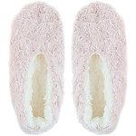 Capelli New York Pink Bunny Fur Pull-On Slipper Socks