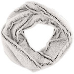 Capelli New York Neutral Tipped Faux Fur Loop Scarf