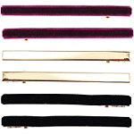 Capelli New York Pelican Clips With Red Velvet, Gold & Black Velvet